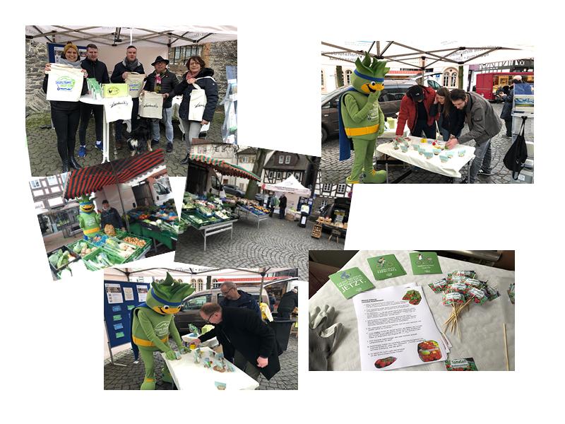 Impressionen der ersten Wochenmärkte Grünberg, Lich, Laubach